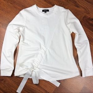 Papillon | Women's Ivory Blouse with Bow Front